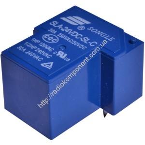 Купить Реле SLA-24VDC-SL-C (T90) 30A 250VAC/30VDC SONGLE по цене 42 грн. в интернет магазине Радиокомпоненты