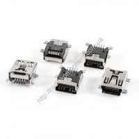Гнездо Mini USB 5pin smd